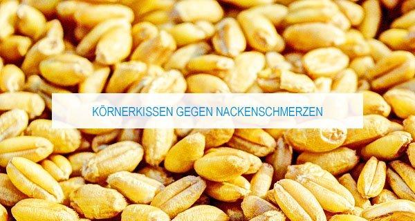 Körnerkissen gegen Nackenschmerzen