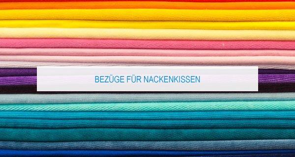 Nackenkissen Bezug: Bunter schutz für das Nackenkissen
